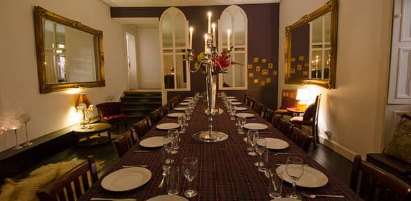 Harvieston Hall Dining Room in Edinburgh