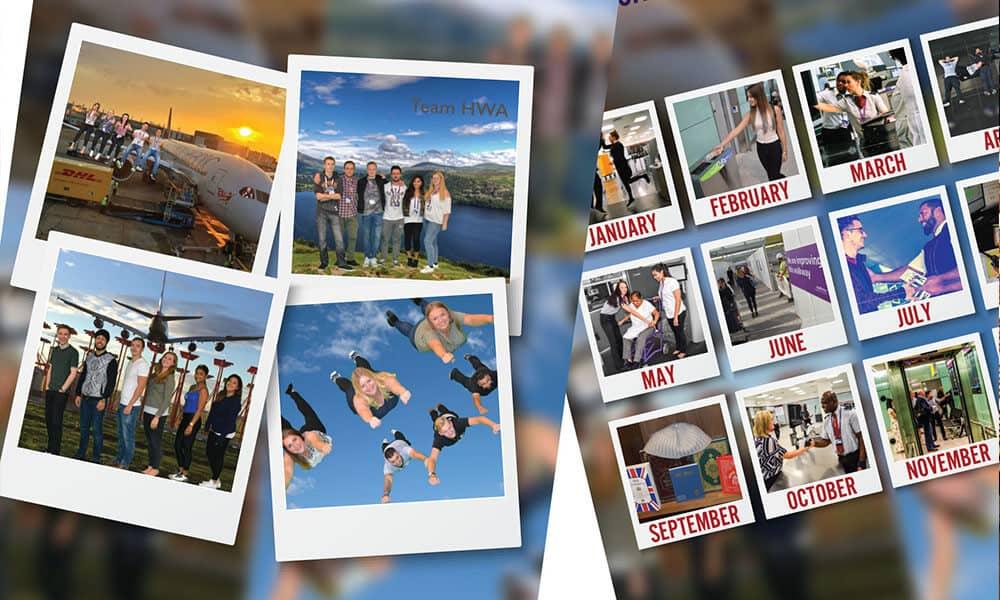 Calendar boys and girls team building activity