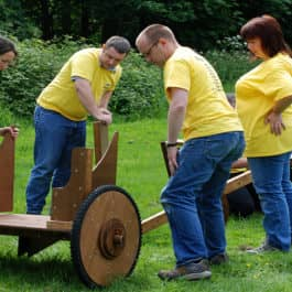 Flat Out Chariot Team Building Challenge