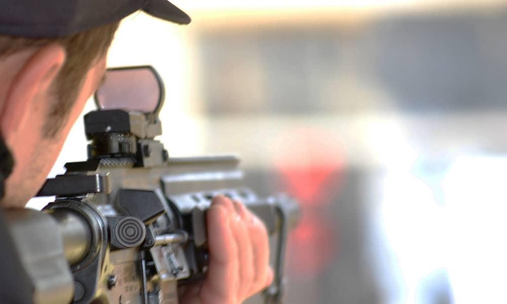 .22 assault rifle shooting range