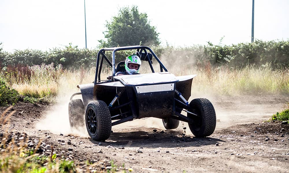 off road dune buggy driving