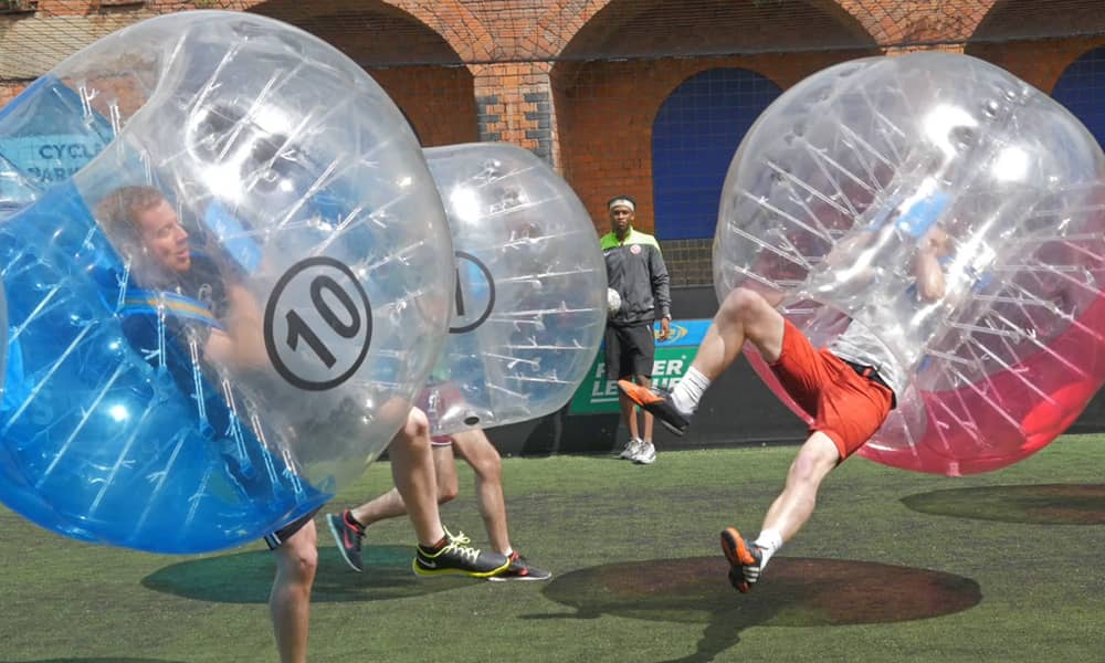 bubble football stag do