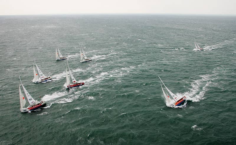 clipper sailing the world