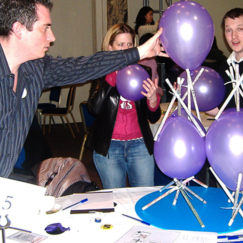 Circulation wars team building activity