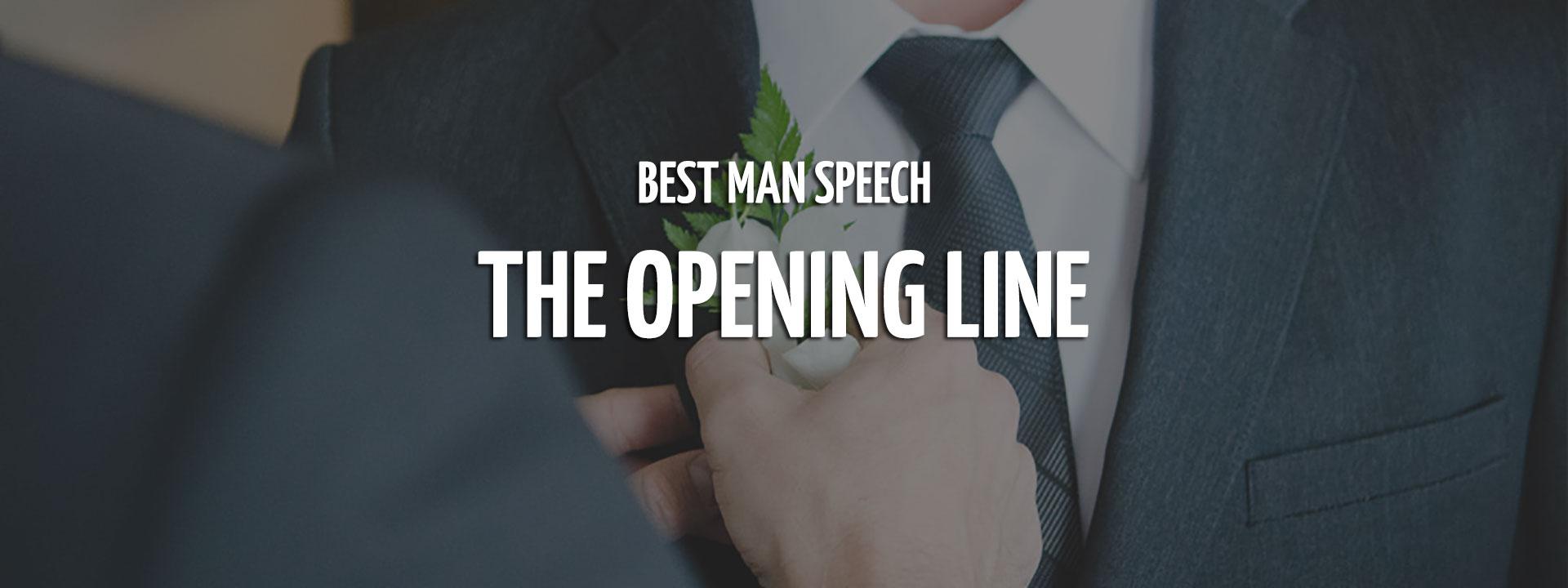 Best Man Speech Opener