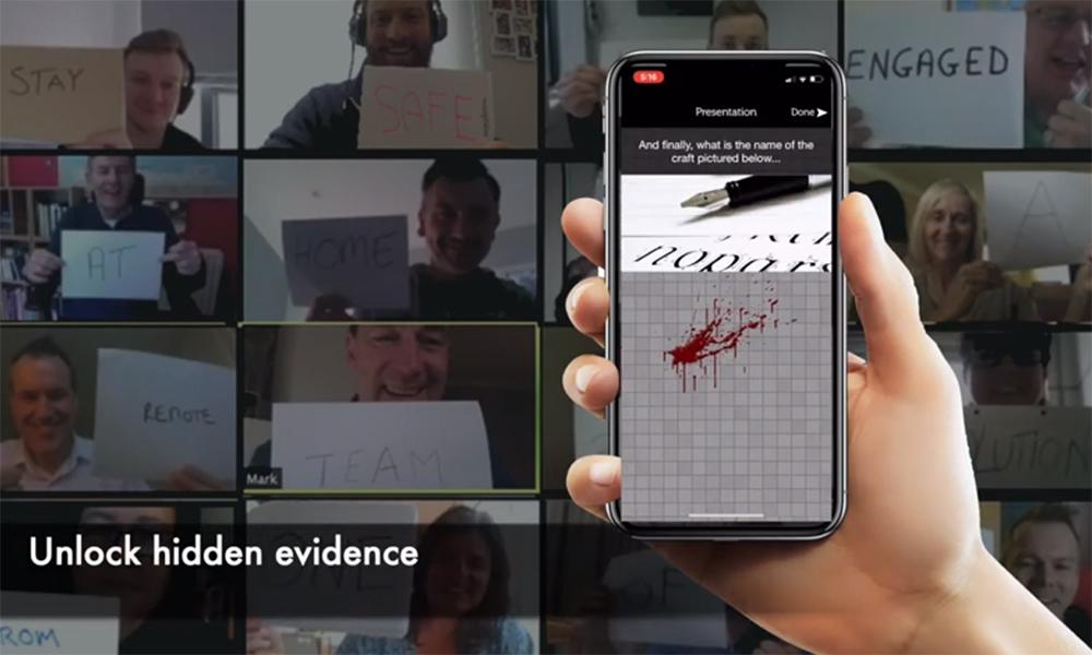 Online murder mystery corporate